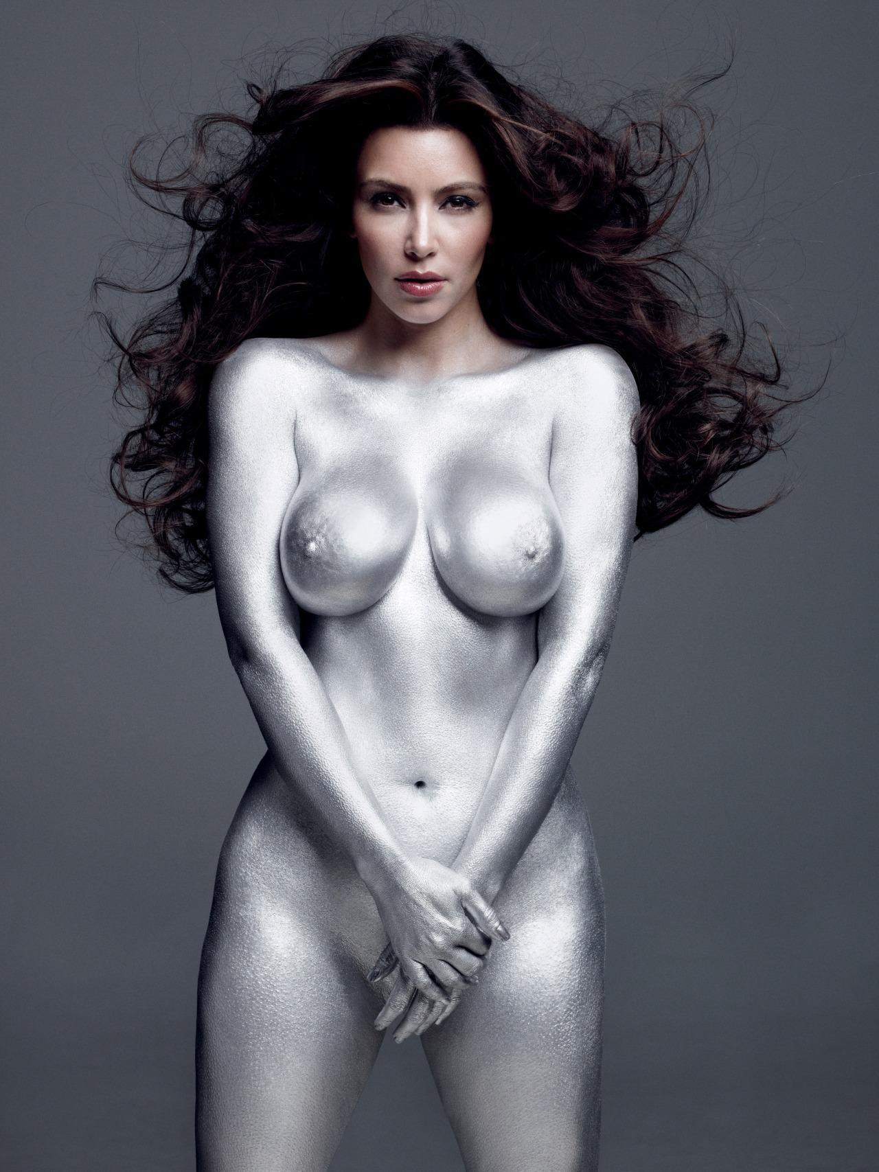 Kim Kardashian Nude Body Paint Photoshoot Leaked Fdcsbq