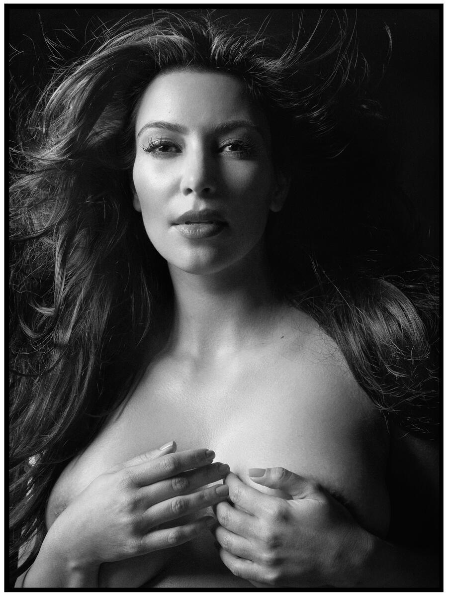 Kim Kardashian Nude Body Paint Photoshoot Leaked Jjinqe