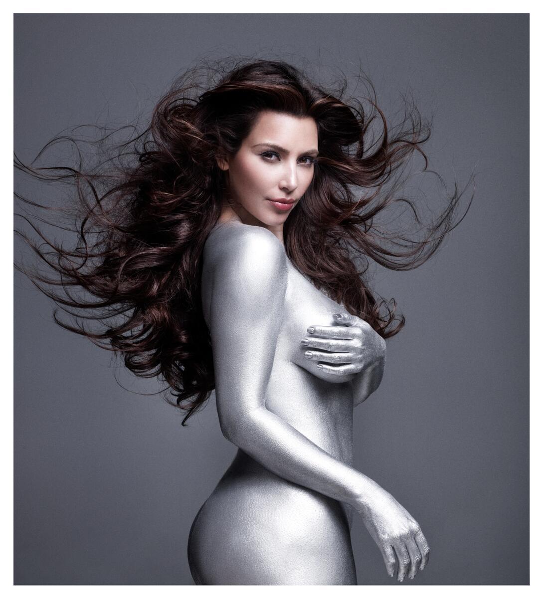 Kim Kardashian Nude Body Paint Photoshoot Leaked Munllg