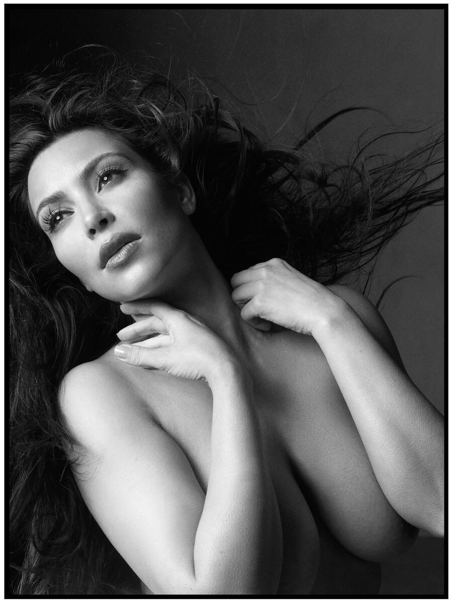 Kim Kardashian Nude Body Paint Photoshoot Leaked Sixawv