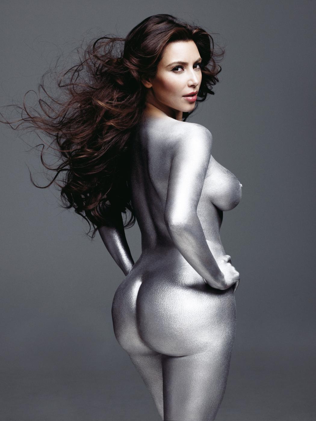 Kim Kardashian Nude Body Paint Photoshoot Leaked Urswge