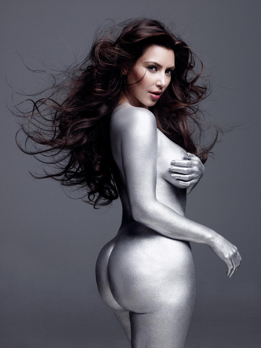 Kim Kardashian Nude Body Paint Photoshoot Leaked Xugalk
