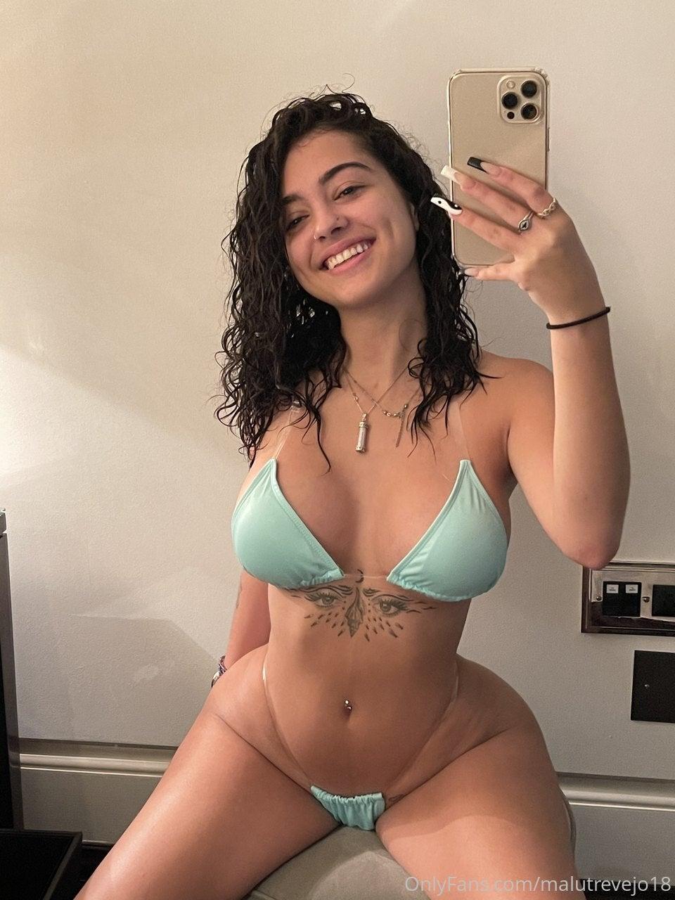 Malu Trevejo Teal Bikini Onlyfans Set Leaked Sibowb