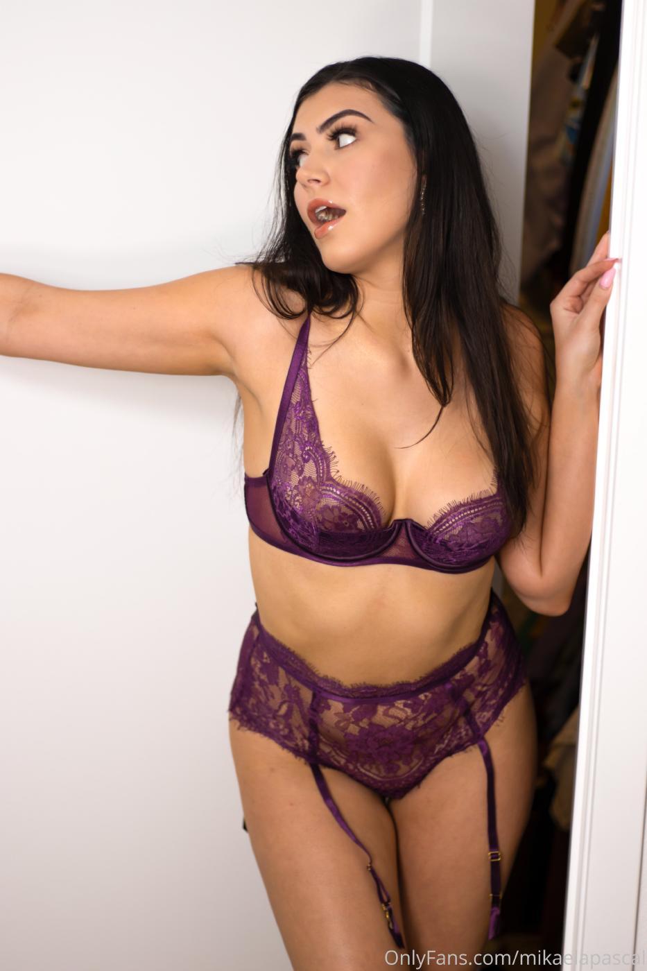 Mikaela Pascal Purple Lace Lingerie Onlyfans Set Leaked Yjbjpv