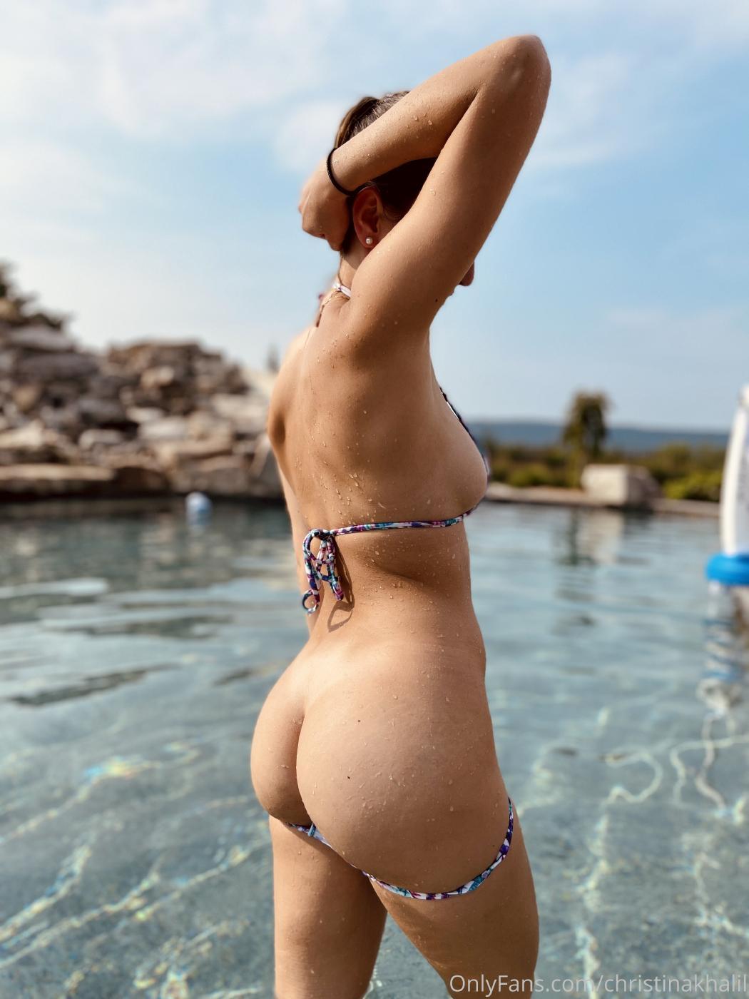 Christina Khalil Topless Pool Onlyfans Set Leaked Dnudhg
