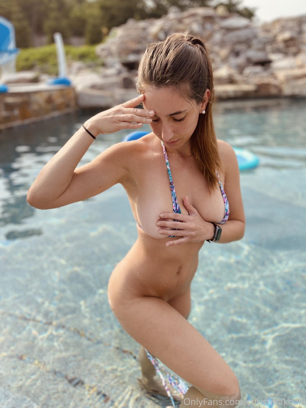 Christina Khalil Topless Pool Onlyfans Set Leaked Lcjkbp