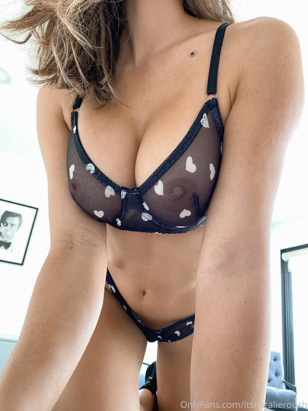 Natalie Roush Black Sheer Lingerie Onlyfans Set Leaked Qabwrg