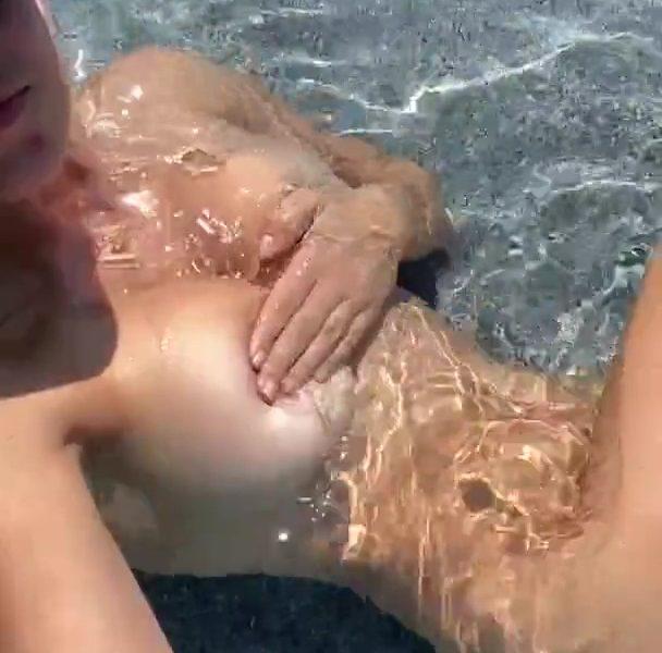 Christina Khalil Nude Pool Teasing Onlyfans Video Leaked