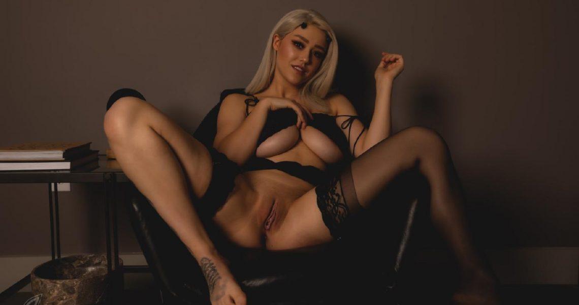 Sabrina Nichole Nude Black Lingerie (6)