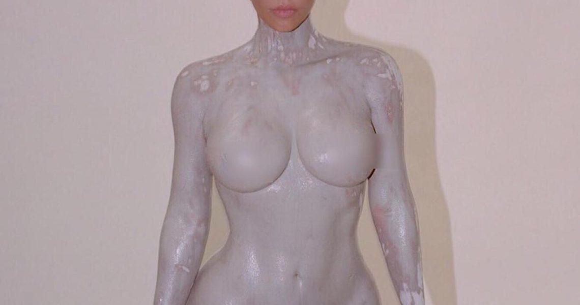 Kim Kardashian Nude Body Paint Set Leaked Gsdxhg