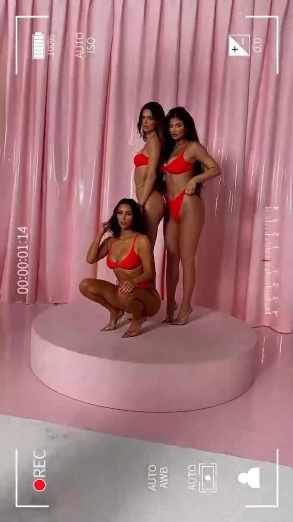 Kylie Jenner Thong Lingerie Skims Bts Video Leaked Qqbutd