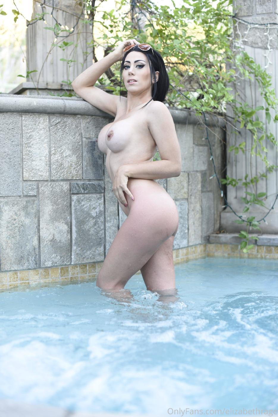 Elizabeth Rage Nude Outdoor Pool Onlyfans Set Leaked 0020