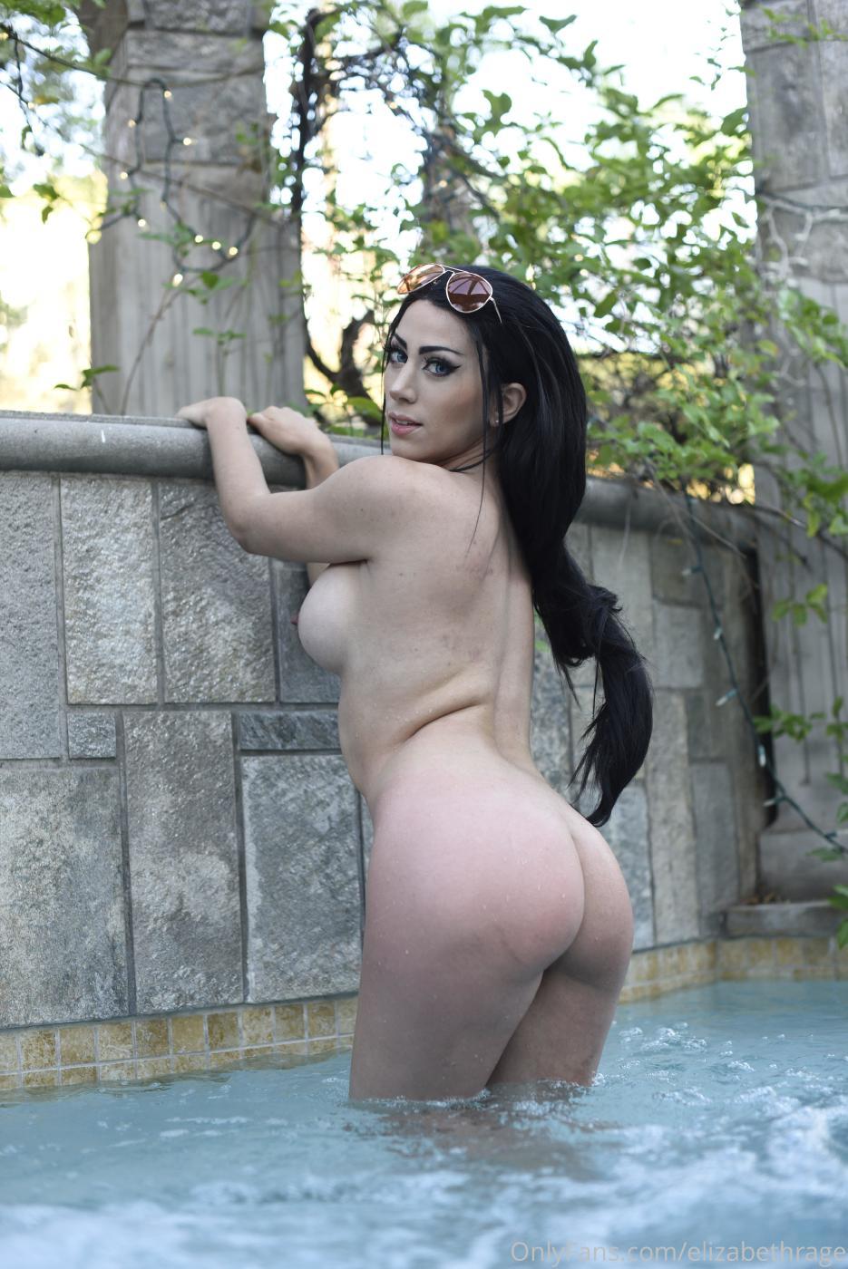 Elizabeth Rage Nude Outdoor Pool Onlyfans Set Leaked 0021