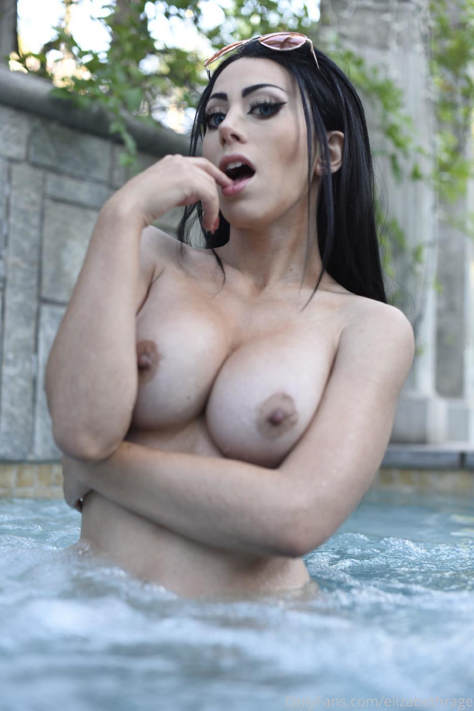 Elizabeth Rage Nude Outdoor Pool Onlyfans Set Leaked 0023