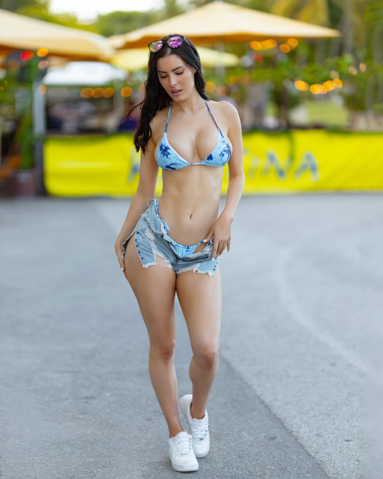 Erin Olash Bikini Denim Jeans Set Leaked 0013