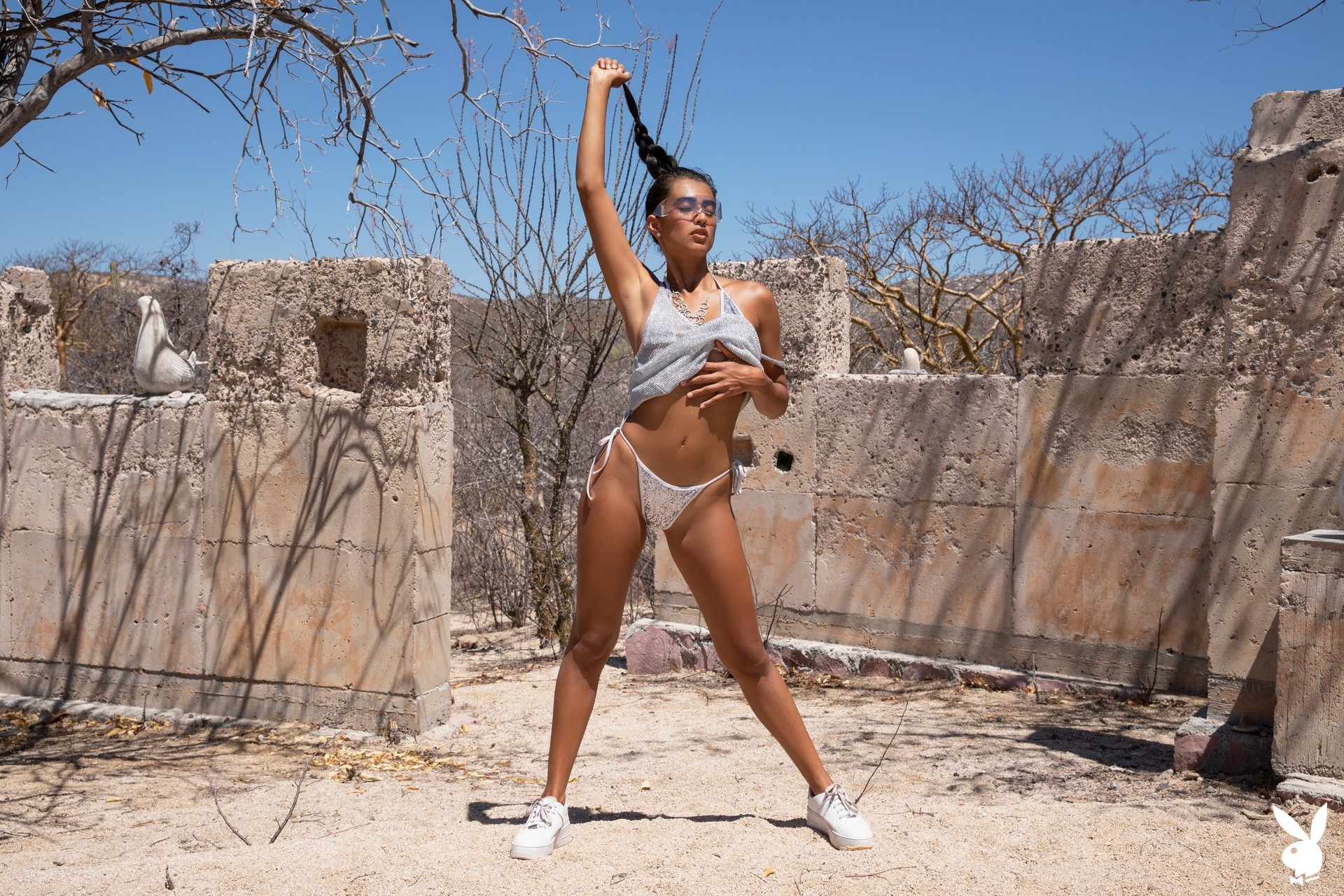 Katherinne Sofia In Silver Sun Playboy Plus (2)