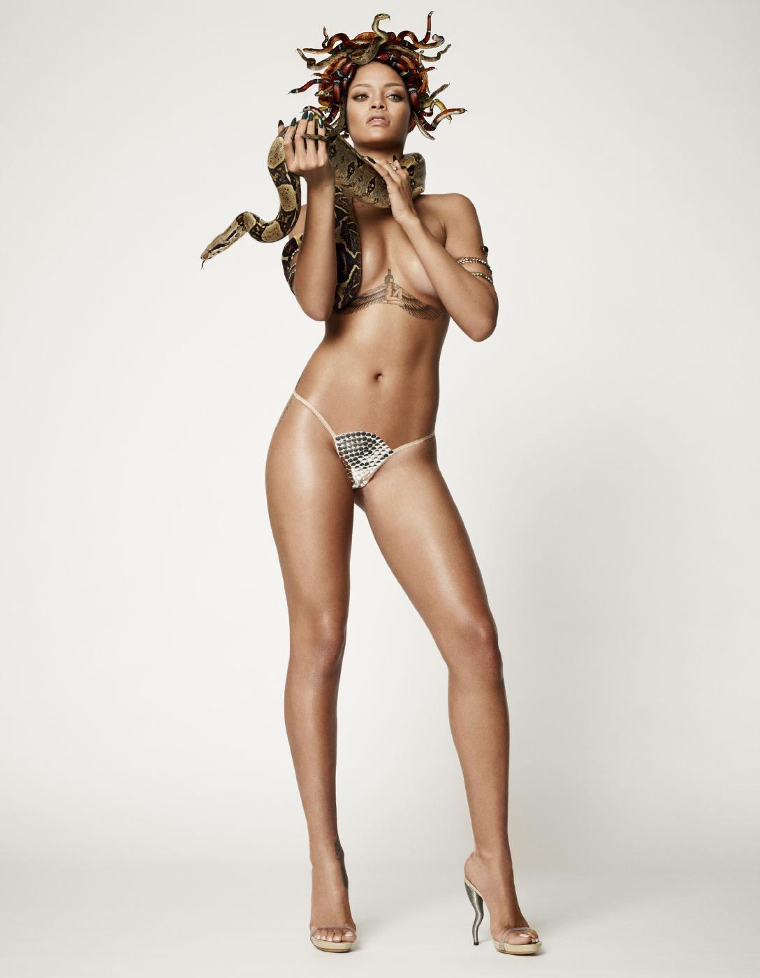 Rihanna Nude Snake Photoshoot Set Leaked 0003